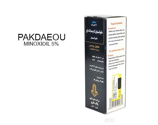 محلول محرک رشد موی ماینوکسیدیل پاک دارو MINOXIDIL 5%