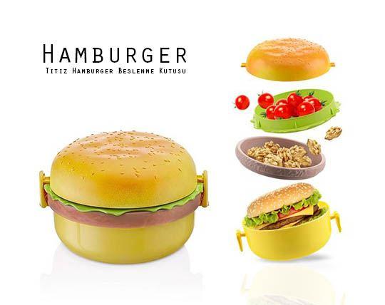ظرف غذای طرح همبرگر  Hamburger dish