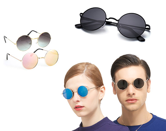 عینک گرد هنری مدل Row Hao