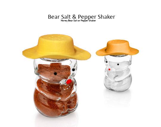 نمکدان شیشه ای طرح خرس