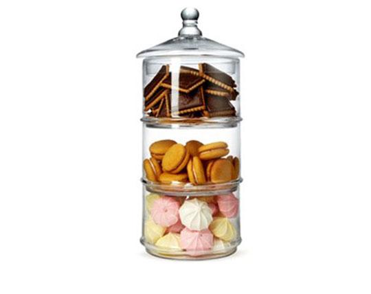 برج خوراکی سه طبقه شیشه ای