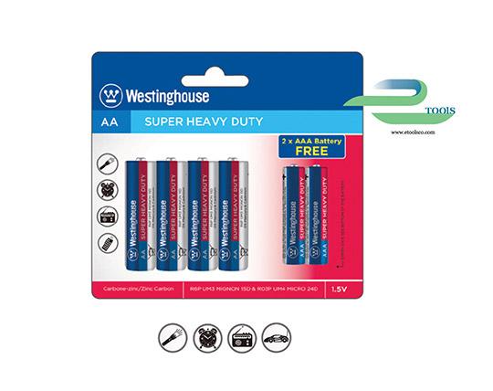 پکیج 6 عددی باتری Wetsinghouse